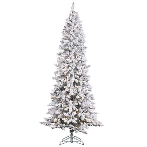8 ft flocked slim christmas tree 1000 images about flocked frosted trees on trees shops and miniature
