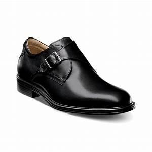 Florsheim Network Monk Strap Plain Toe Shoes In Black For