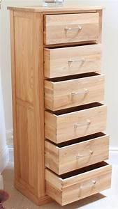 Baumhaus Mobel Oak 6 Drawer Tall Boy Up To 40 Sales Now On