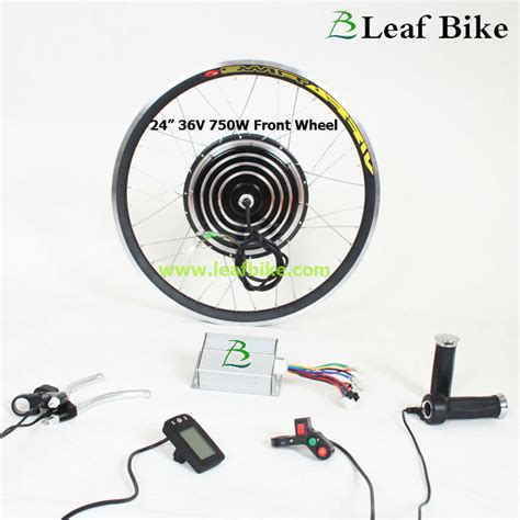 24 inch 36v 750w front hub motor electric bike conversion kit