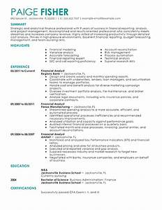 best financial analyst resume example livecareer With finance resume samples