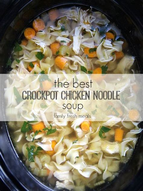 recipe for chicken noodle soup crock pot and slow cooker soup recipes
