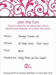 mary kay party invitations gangcraftnet With mary kay invite templates