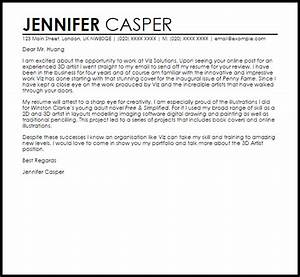 3d artist cover letter sample livecareer With 3d modeling resume sample