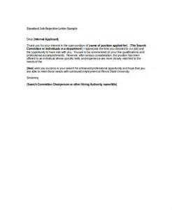 Rejection Letter Exles by Employment Rejection Letter Rejection Letter Template Modern Bio Resumes Rejection Letter