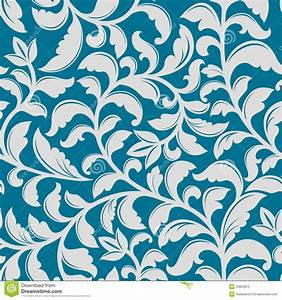 Blue Floral Pattern Stock Photography - Image: 33855872