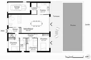 plan maison rectangulaire avec piscine ooreka With plan de maison rectangulaire
