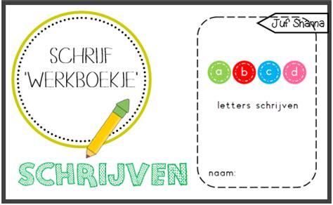 Werkbladen Leren Schrijven by Juf Shanna Letters Schrijven Werkboekje
