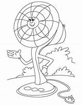 Fan Electric Coloring Pages Clipart Cartoon Clip Table Ceiling Printable Template Sketch Templates Votos Getdrawings Library Getcolorings sketch template
