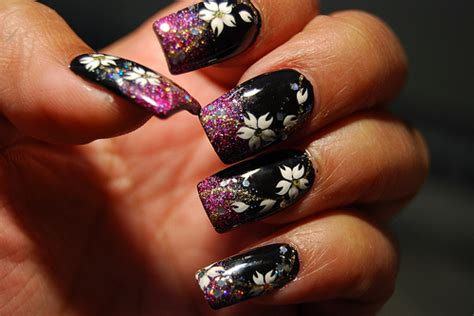 Beautiful Flower Designs Nail Arts