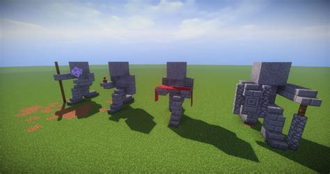 2 house blueprints 11 small kneeling statues easy build for miencraft ideas