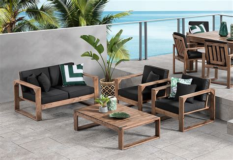 shadow2 4 outdoor lounge setting amart furniture