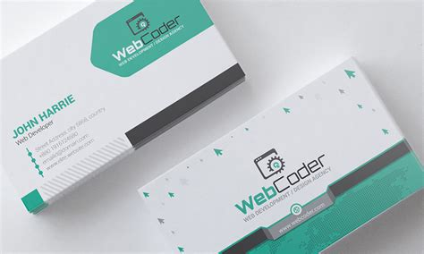 Business Card Design For Web Design And Developer Psd Business Plan Vision Statement Ppt Slideshare Model Canvas Itu Apa Key Metrics Plans Za Xls Template With Less Investment Value Proposition Examples