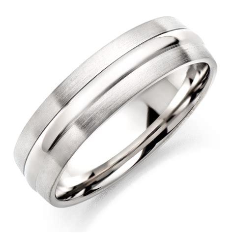 mens silver wedding rings uk
