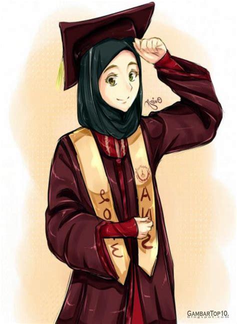 anime tentang cantik 10 gambar kartun muslimah gambar top 10