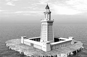 Seven Wonders Of The World Lighthouse At Alexandria