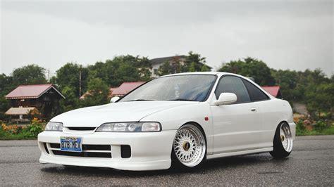 car wallpapers honda integra type  tuning white stance