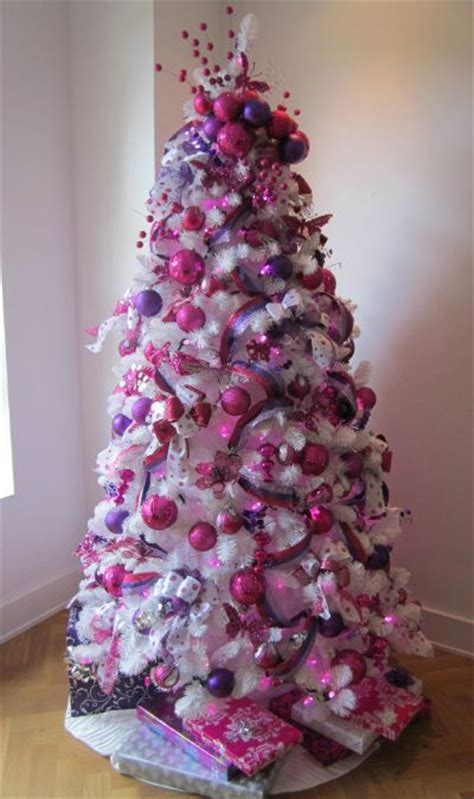purple christmas trees decorating ideas christmas