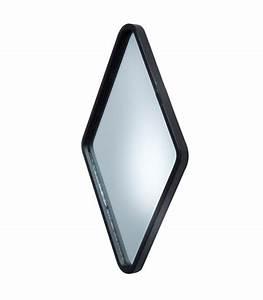 Miroir Metal Noir : miroir mural d co losange m tal noir ~ Teatrodelosmanantiales.com Idées de Décoration