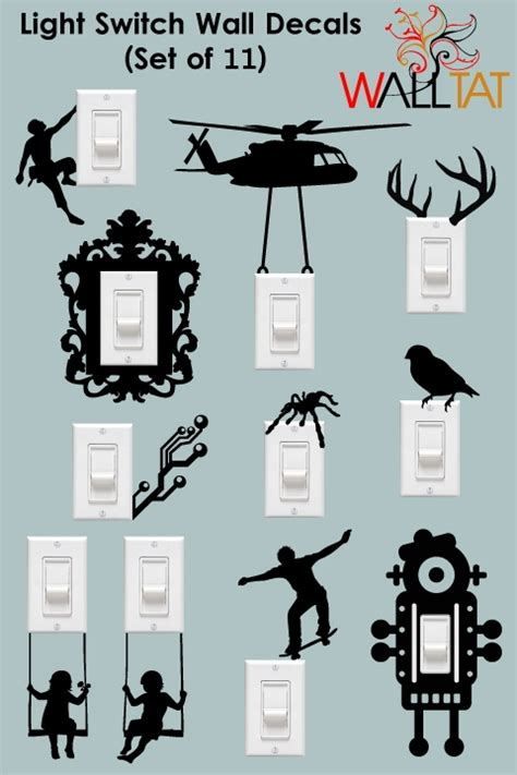 Light Switch and Outlet Wall Decals   11 Pack   walltat.com