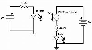 How to build an infrared detector circuit for Ir emitter circuit