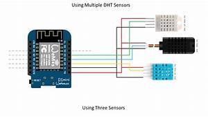 Tech Note 012 - Esp8266 Reading Multiple Dht Sensors
