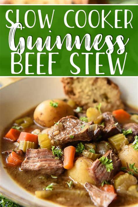 slow cooker irish guinness beef stew