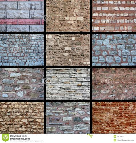 variety of textures a variety of wall textures stock photography image 29970172