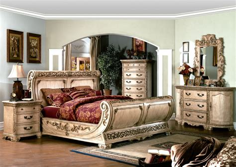 cannes ornate traditional queen sleigh bed ivory white luxury pc bedroom set ebay