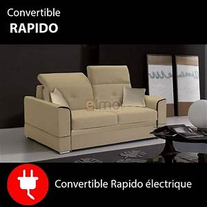canape lit convertible rapido electrique canapes pas With promo canape convertible