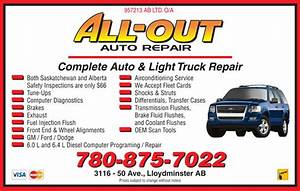 All Out Auto Repair Opening Hours 3116 50 Ave