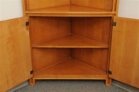 mahogany kitchen cabinets russel wright maple corner cabinet at 1stdibs 6446