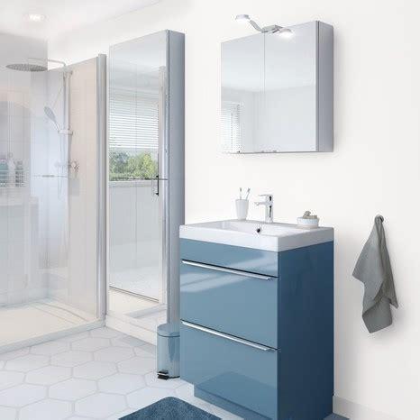 meuble sous vasque 192 poser bleu quot imandra quot l 60 x h 82 x p 45 cm brico d 233 p 244 t