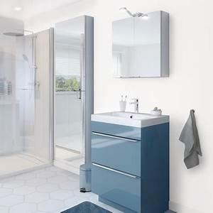 meuble sous vasque a poser bleu quotimandraquot l 60 x h 82 With meuble salle de bain imandra