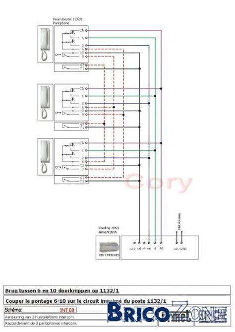 schema cablage parlophonecarillongache electrique