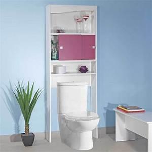 Armoire Rangement Salle De Bain : meuble de rangement buanderie toilette fuchsia 6090a2136a17 achat vente armoire salle de ~ Melissatoandfro.com Idées de Décoration