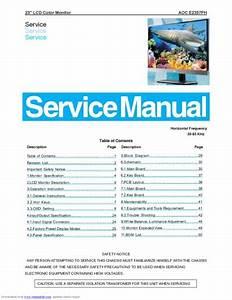 Aoc E2357fh Lcd Monitor  Service Manual  Repair Schematics