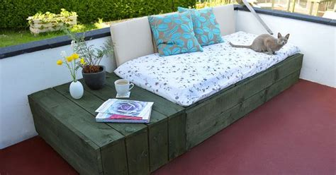 use pallets to create a modern and chic patio daybed why