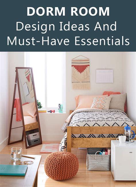 dorm room design   essentials decor ideas