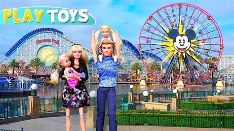 Barbie Girl, Ken & Baby Dolls Trip To Disneyland! Play Barbie Family Morning Routine For