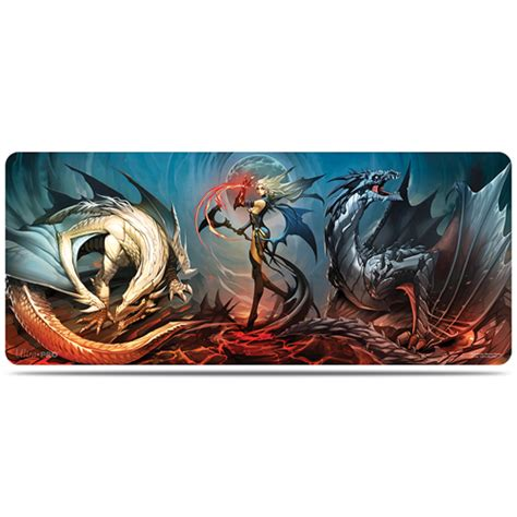 dstrib tapis de jeu pour table realms of havoc 182x76 cm magic the gathering