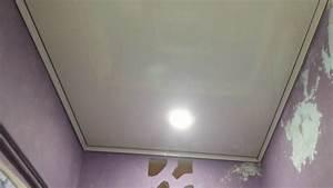 Faux plafond pvc salle de bain youtube for Plafond salle de bain pvc