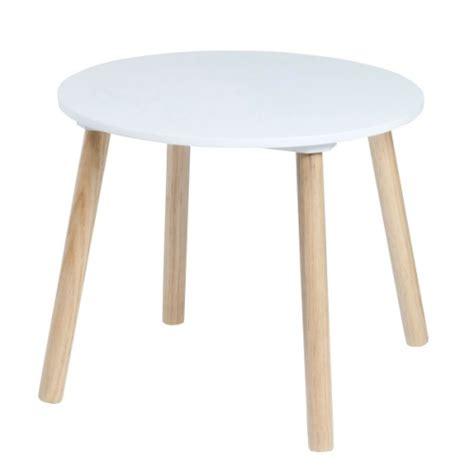 table ronde enfant table ronde naturel blanc oxybul pour enfant de 1 an 224 4