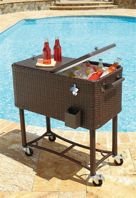 garden oasis 80qt wicker patio cooler outdoor living