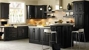 Black kitchen cabinet knobs home furniture design for Black kitchen cabinets ideas