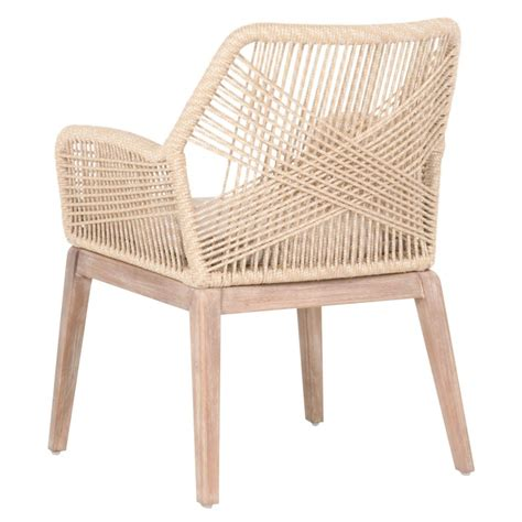 loom sand rope dining chair set of two luca sand woven rope arm chairs dear keaton 9063
