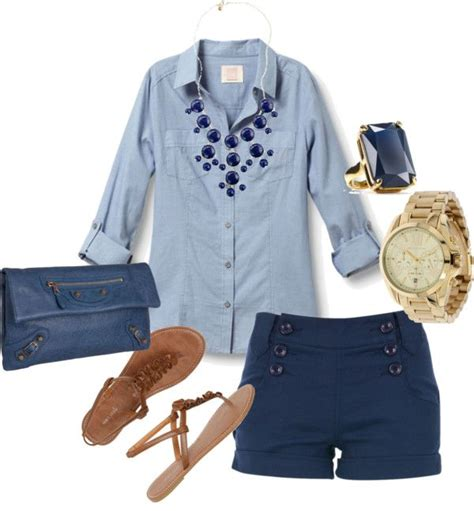 Outfits With Navy Blue Shorts - Hardon Clothes