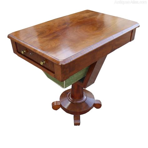 sewing table for sale victorian mahogany sewing table antiques atlas