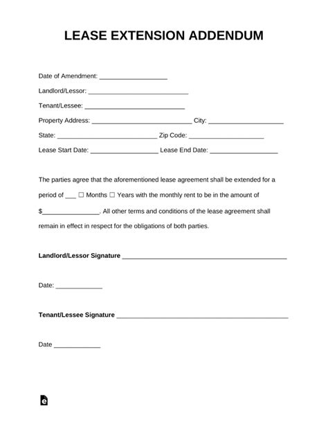 residential lease extension letter   write  lease