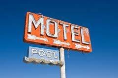 Vintage Neon Motel Sign Royalty Free Stock Image Image
